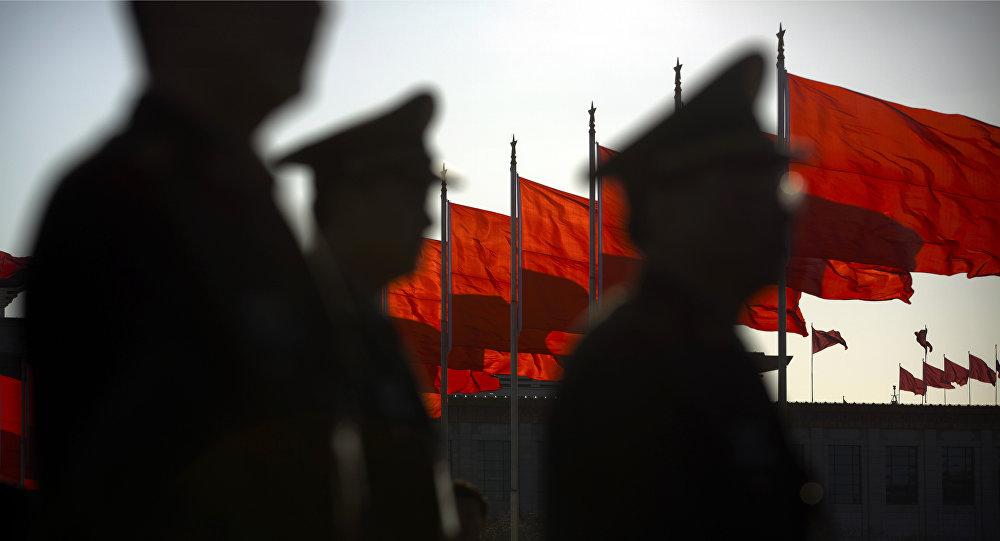 Militaires chinois à Pékin
