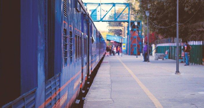 Une gare en Inde