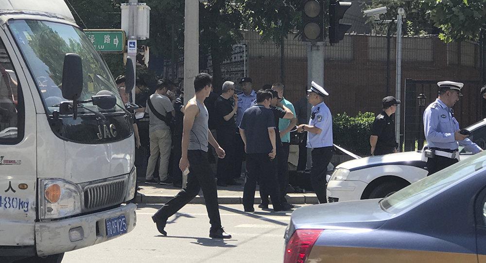 Explosion à l'extérieur de l'ambassade des États-Unis — Pékin