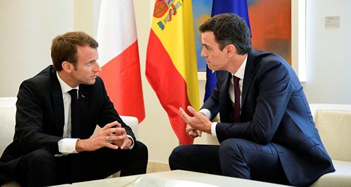 Emmanuel Macron s'est rendu à Madrid pour une rencontre bilatérale avec Pedro Sanchez
