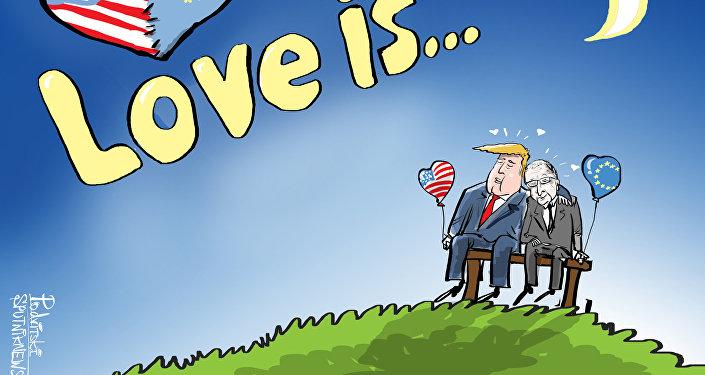 Bisou d'amour UE-USA