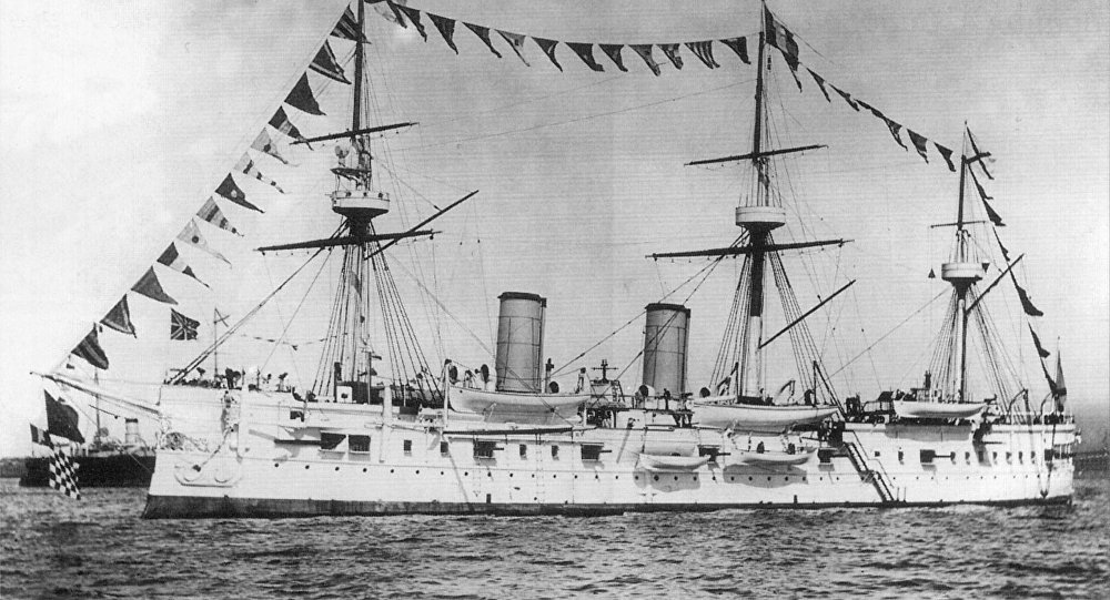 Le croiseur Dmitri Donskoï de la marine impériale russe