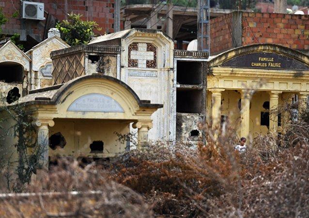 Un cimetière chrétien en Algerie