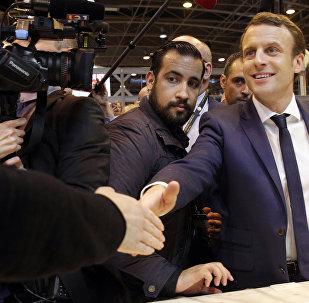 Emmanuel Macron et Alexandre Benalla