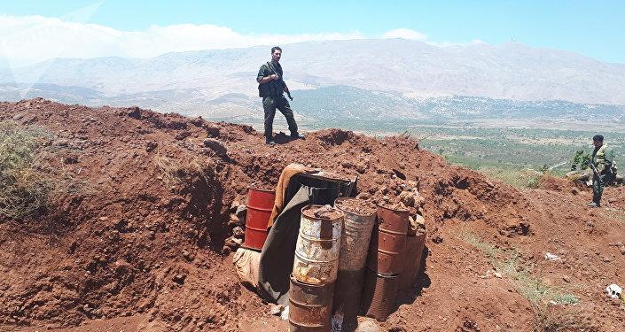 A la frontière entre la Syrie et Israël