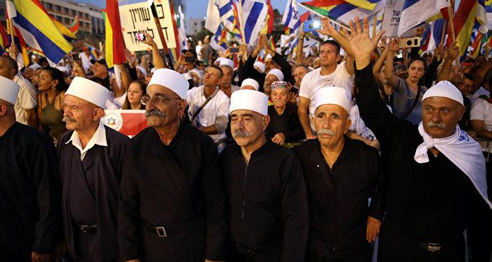 Manifestation de druzes à Tel Aviv