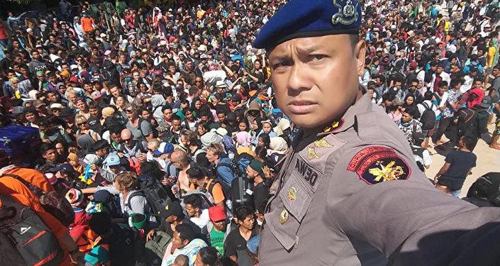 l'évacuation de l'île de Gili Trawangan
