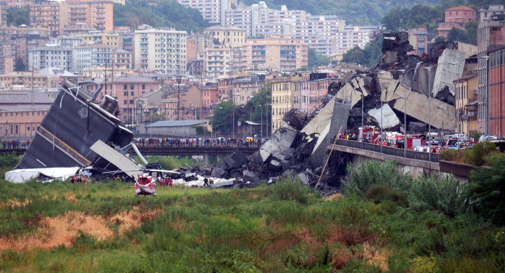 Effondrement d'un viaduc près de Gênes