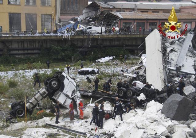 Effondrement du viaduc à Gênes