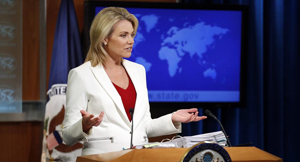 La porte-parole de la diplomatie américaine Heather Nauert