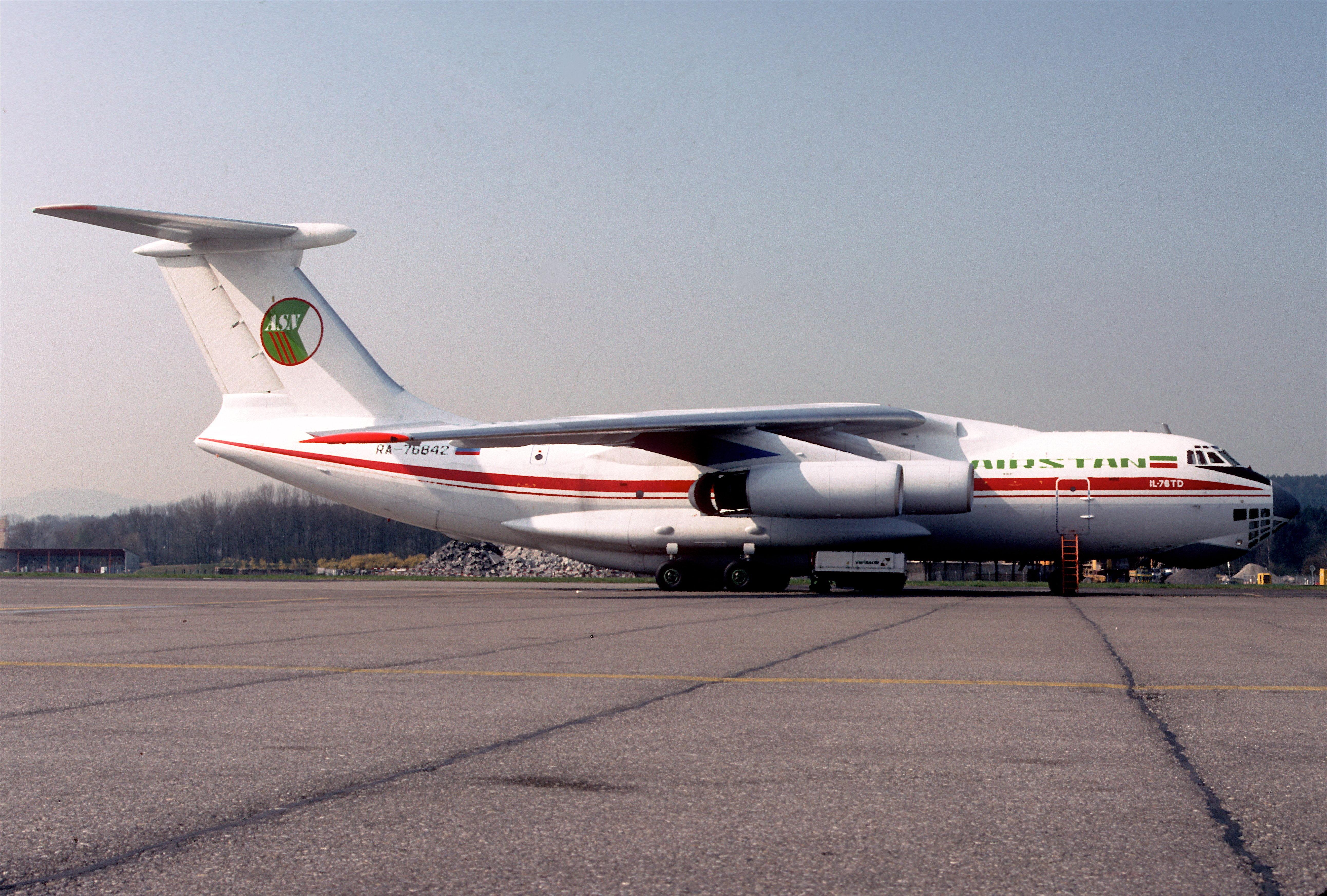 Iliouchine Il-76TD quatre mois avant d'être capturé par les talibans