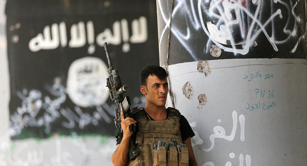 Un membre des forces antiterroristes irakiennes