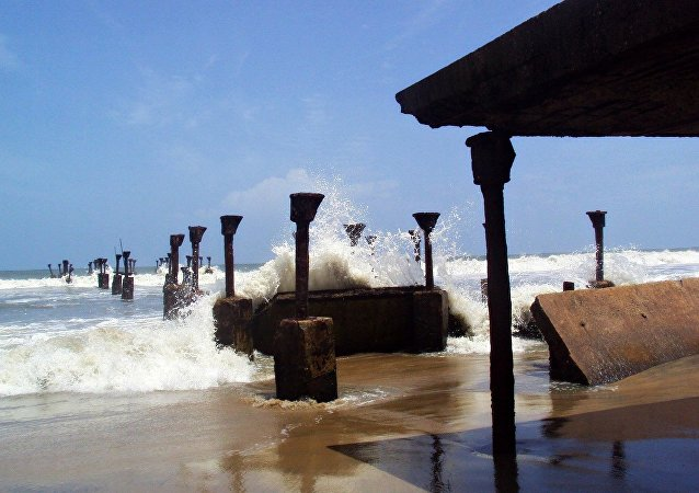 Une plage du Kerala, en Inde