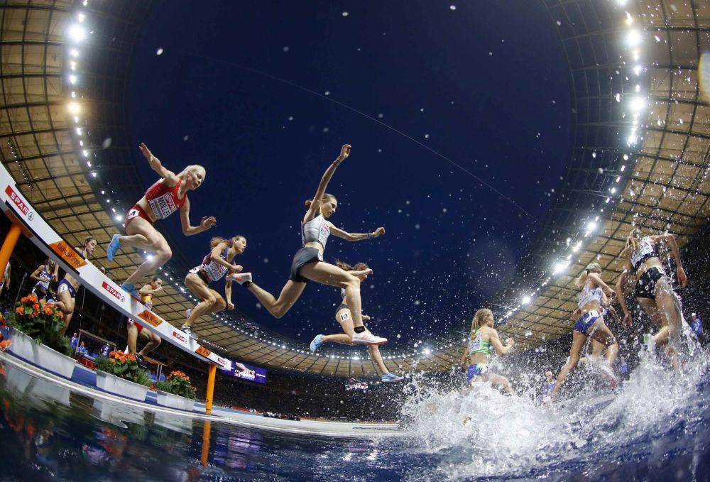 3.000 steeple femmes au Championnat d'Europe d'athlétisme à Berlin
