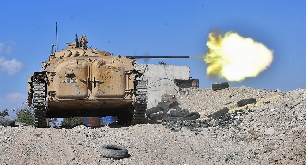 Un BMP-2 non loin de Damas
