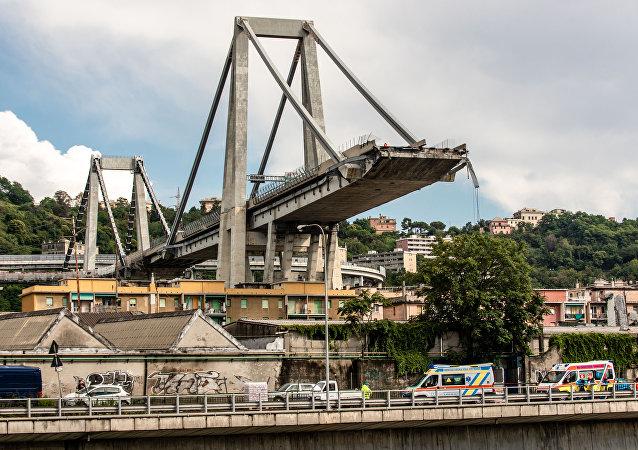 Le pont de Morandi à Gênes