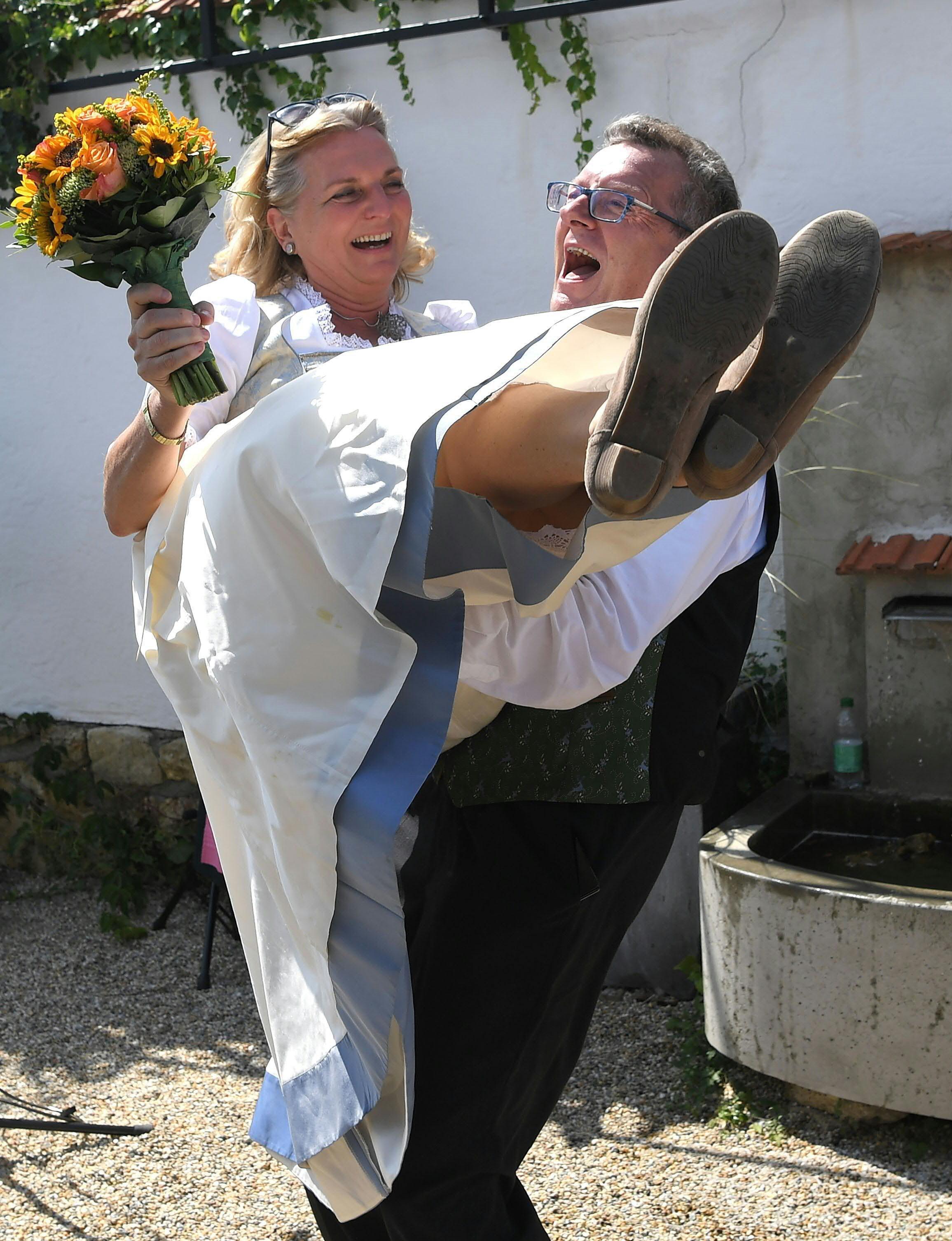Karin Kneissl et Wolfgang Meilinger
