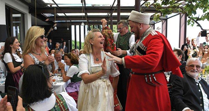 Mariage de la ministre autrichienne Karin Kneissl