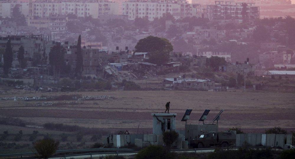 la frontière entre Israël et la bande de Gaza