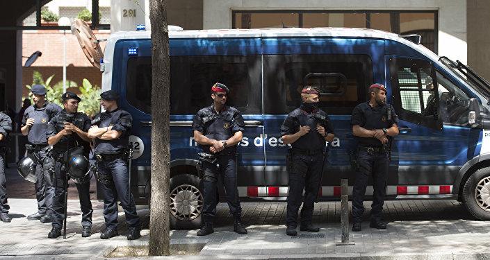 La police catalane