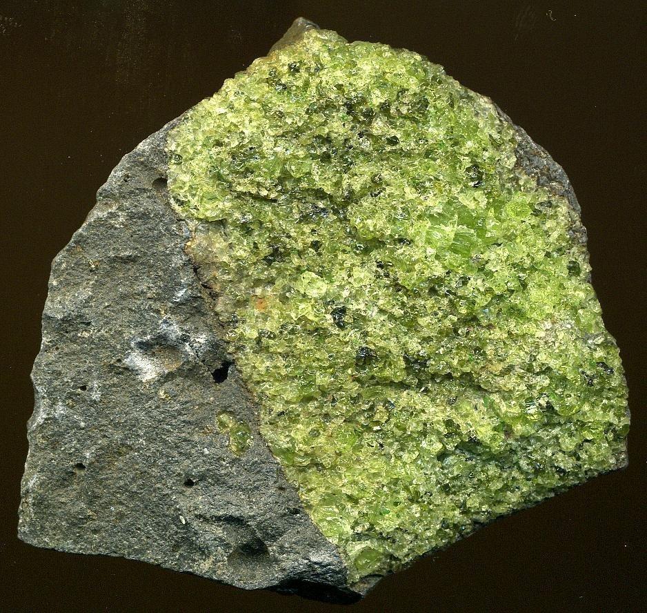 Les minéraux du manteau. Arizona, États-Unis