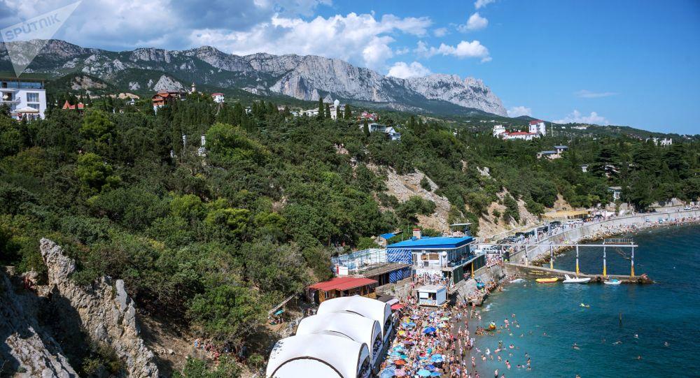 Une plage en Crimée