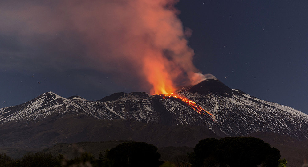 Eruption de l'Etna en 2017