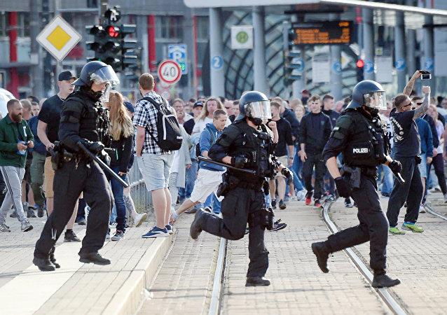 manifestations à Chemnitz