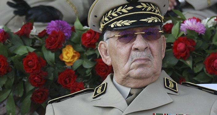 Le généra de corps d'armée Ahmed Gaid Salah, le chef de l'état-major de l'ANP