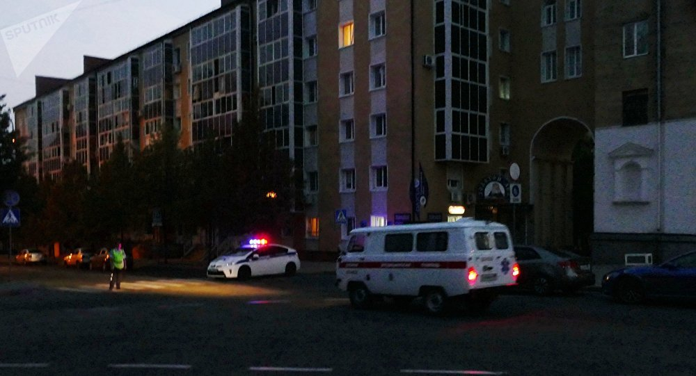 La police au centre de Donetsk