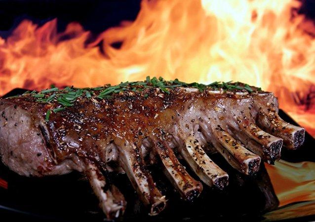 De la viande rôtie
