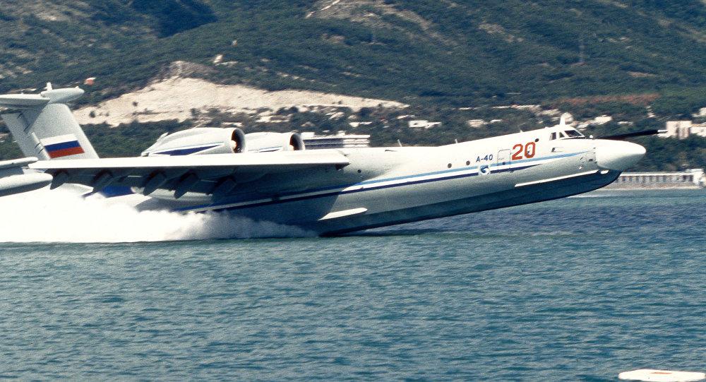 l'avion amphibie polyvalent russe A-40 Albatros