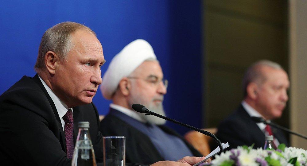 Vladimir Poutine, Hassan Rohani et Recep Tayyip Erdogan