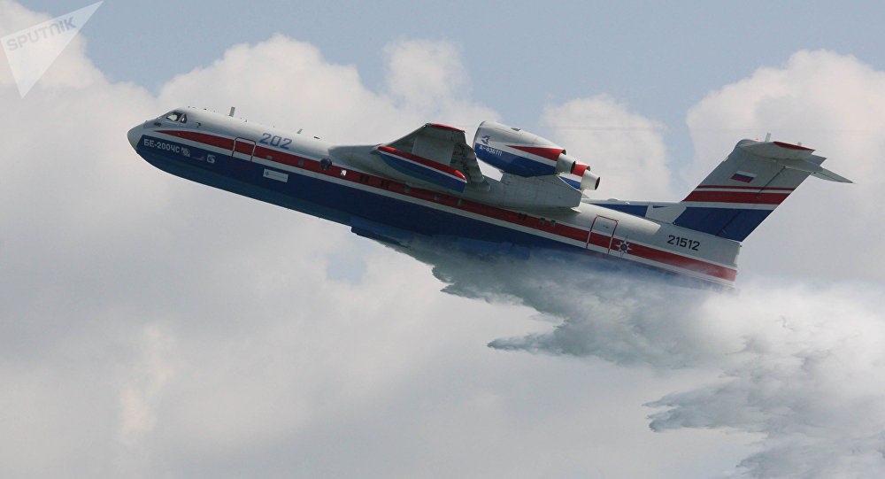 Un bombardier d'eau Be-200