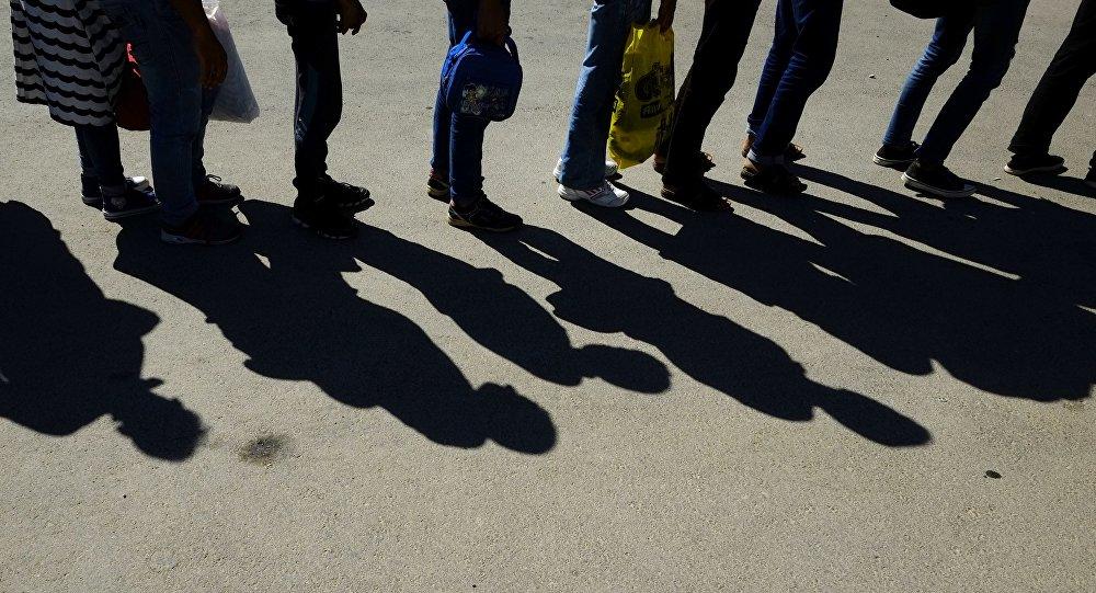 Migrants de la Syrie. Photo d'archive
