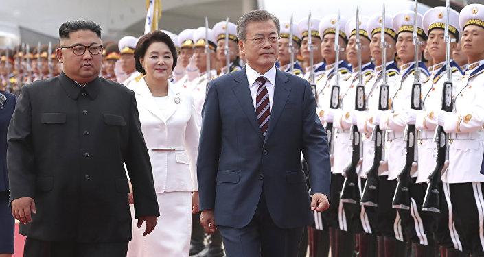 Le Président sud-coréen en Corée du Nord