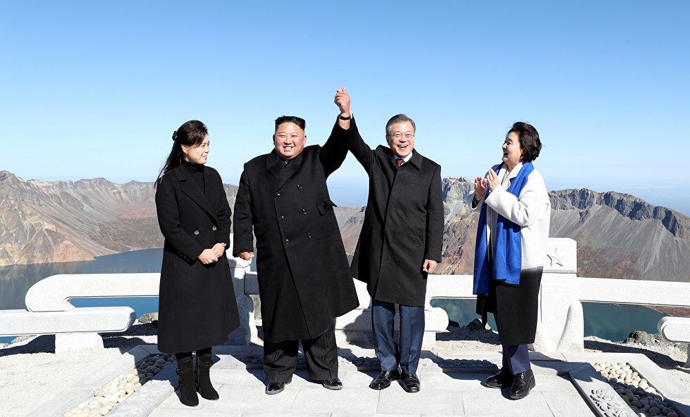 Visite du Président sud-coréen en Corée du Nord