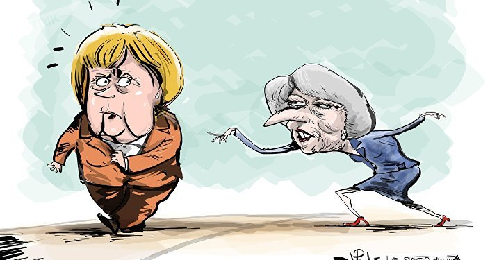 Angela Merkel a ostensiblement refusé de saluer Theresa May