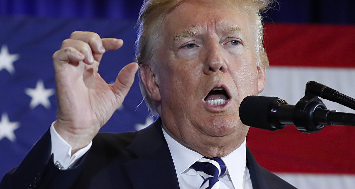 "In this Aug. 31, 2018 photo, President Donald Trump gestures while speaking at the Harris Conference Center in Charlotte, N.C. President Donald Trump is escalating his attacks on Attorney General Jeff Sessions, suggesting the embattled official should have intervened in investigations of two GOP congressmen to help Republicans in the midterms. Trump tweeted Monday that ""investigations of two very popular Republican Congressmen were brought to a well publicized charge, just ahead of the Mid-Terms, by the Jeff Sessions Justice Department."""