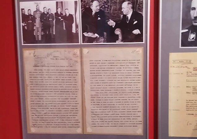 Exposition «Munich 38» à Moscou: «Plan de guerre contre la Tchécoslovaquie»