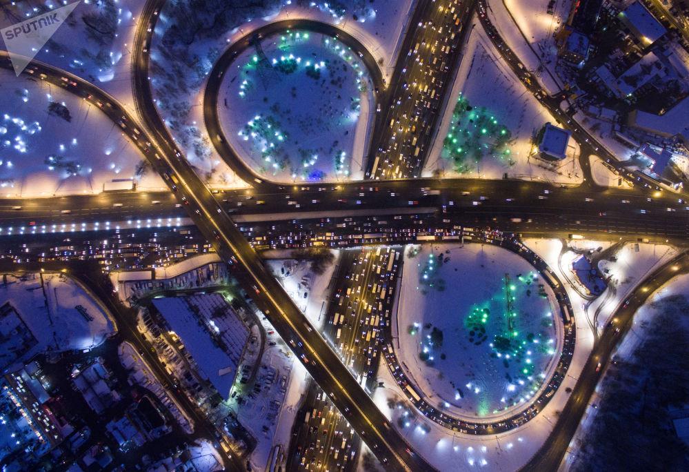 Les échangeurs automobiles à Moscou