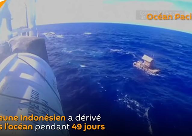 Ce jeune Indonésien a été sauvé après 49 jours à dériver dans l'océan Pacifique