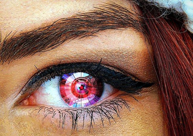 Un œil mécanique (image d'illustration)