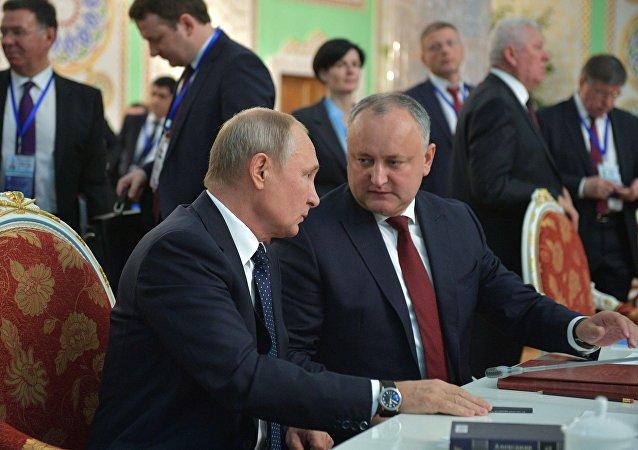 Vladimir Poutine et Igor Dodon