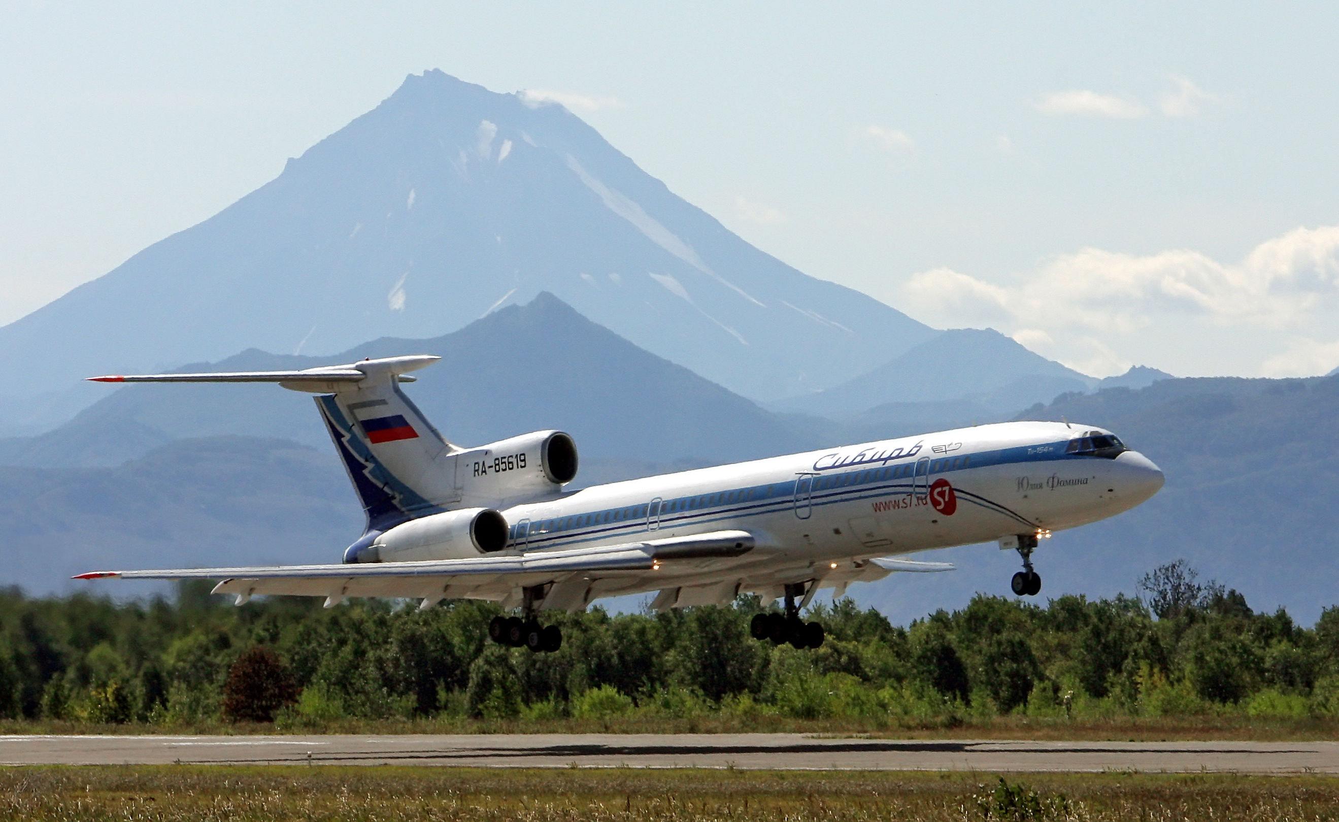 Tu-154 à la péninsule du Kamtchatka