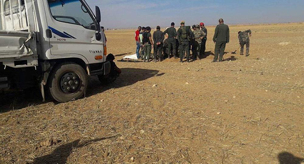 Un charnier civil en Syrie, image d'illustration