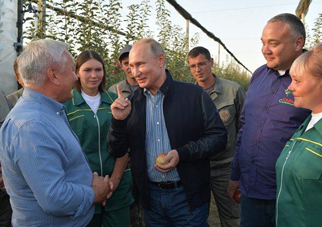 Vladimir Poutine a rencontré des agriculteurs russes du territoire de Stavropol