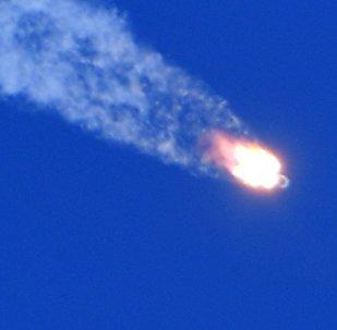 Décollage du lanceur Soyouz-FG avec le vaisseau spatial Soyouz MS-10
