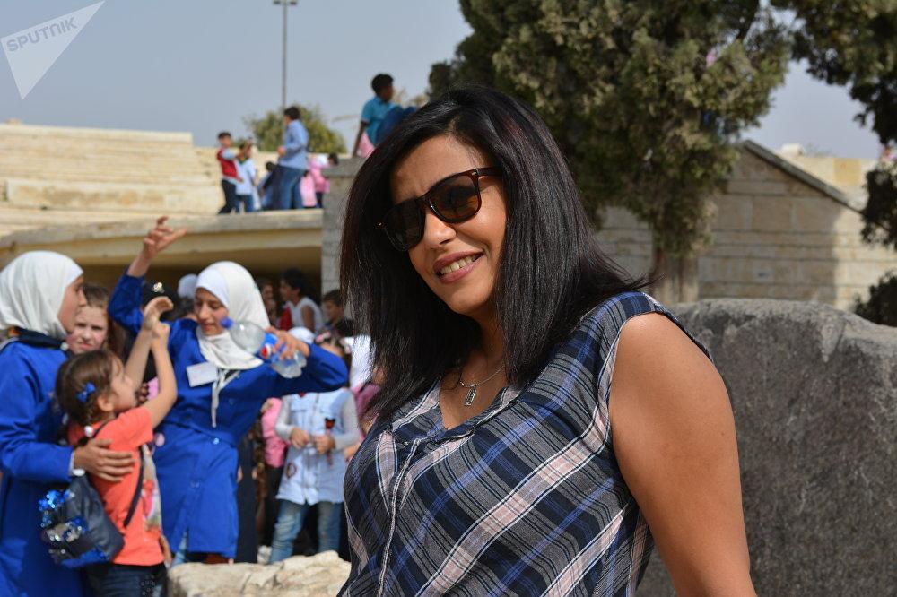 Houda, 28 ans, membre de la garde nationale arabe originaire de Gaza