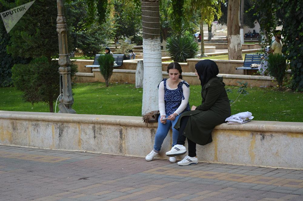 Étudiantes à l'Université d'Alep